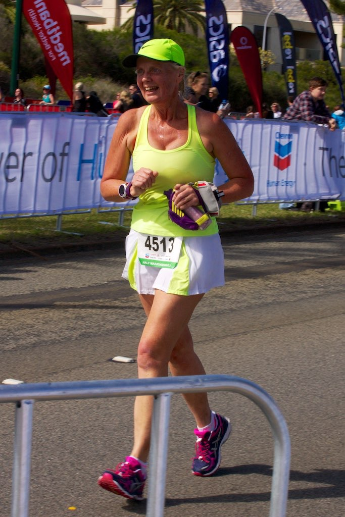 Photo of Caroline finishing City to Surf Half Marathon in August 2015
