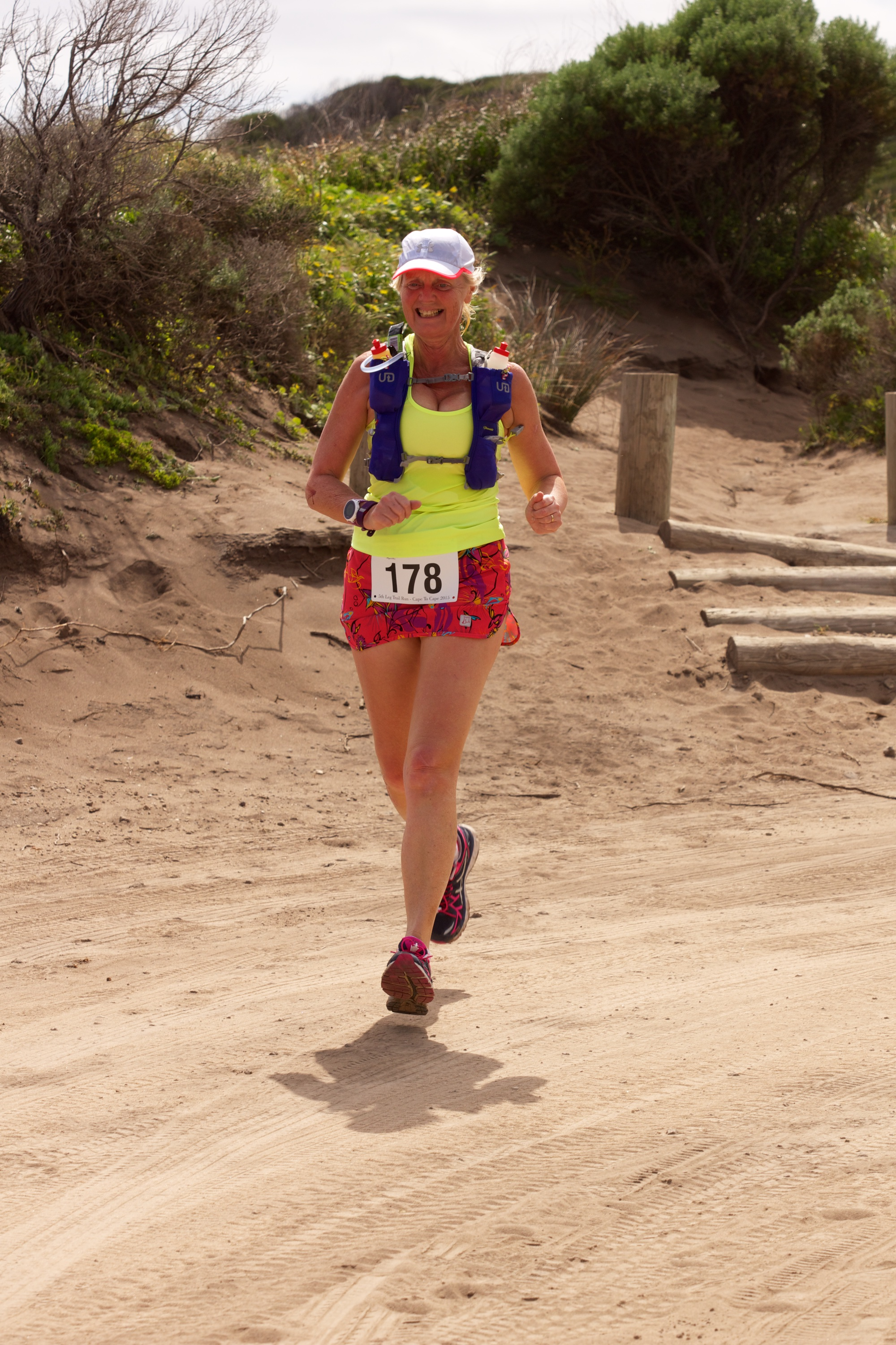 Photo of Caroline during Devil's Lair 5th Leg Trail Run (half marathon distance) in September 2015